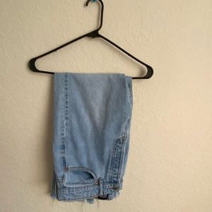 BDG Denim Slim Straight High Waisted Jeans